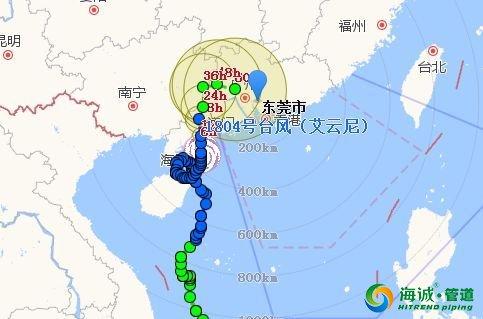 今明东莞仍有大暴雨!路段水浸严重 PE排水管业|广东克拉管|广东内肋管|广东钢丝网骨架管